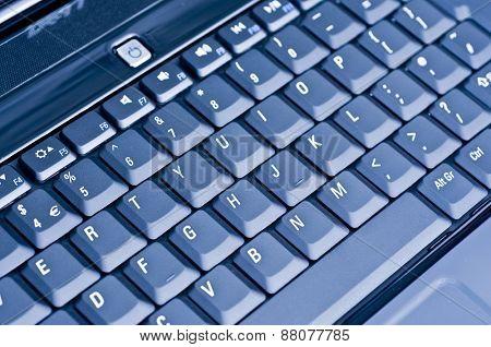 Computer keyboard blue