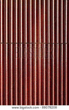 red steel backdrop