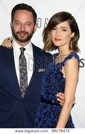LOS ANGELES - FEB 15:  Nick Kroll, Rose Byrne at the