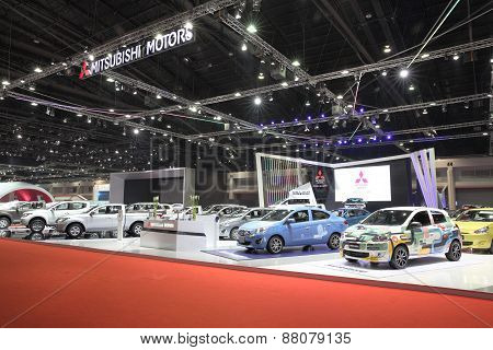 Bangkok - March 25: Showroom Of Mitsubishi Car  At The 36 Th Bangkok International Motor Show On Mar
