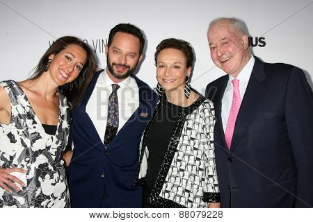 LOS ANGELES - FEB 15:  Sister, Nick Kroll, Lynn Korda Kroll, Jules B. Kroll at the