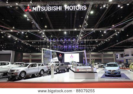 Bangkok - March 25: Showroom Of Mitsubishi Car  At The 36 Th Bangkok International Motor Show On Mar
