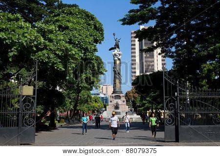 Independence monument column in Guayaquil, Ecuador