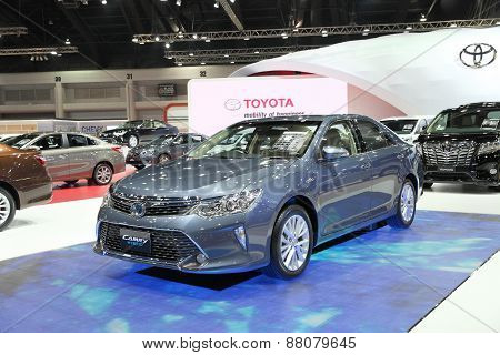 Bangkok - March 25: Toyota Camry Hybrid Car On Display At The 36 Th Bangkok International Motor Show