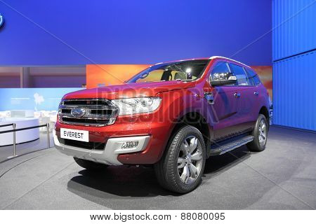 Bangkok - March 25: Side Of Ford Everest Car On Display At The 36 Th Bangkok International Motor Sho