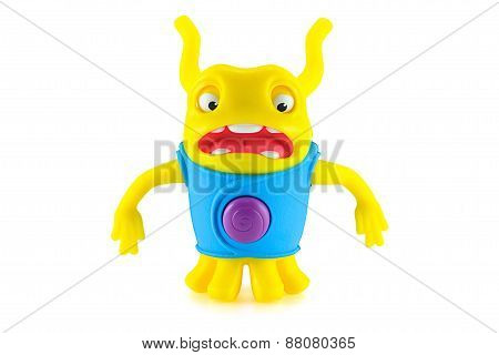 Surprised Oh Alien Yellow Color Toy Character From Dreamworks Home Animation Movie.