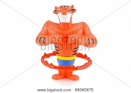 Vitaly The Tiger Play Flaming Hoop Toy Character From Madagascar Animation Movie.