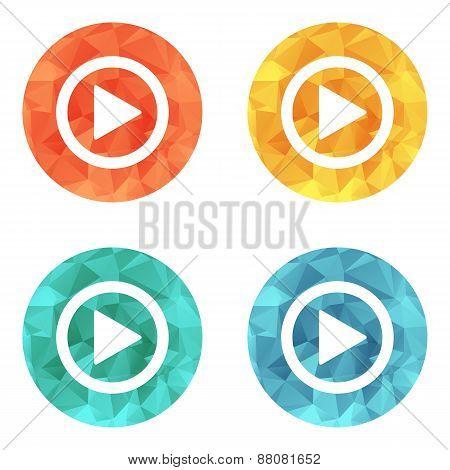 Play button web icon
