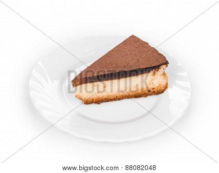 Piece of vanilla cheesecake.