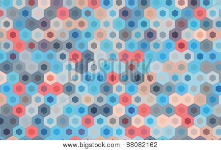 Vector Hexagonal Design Background.geometric Pattern.