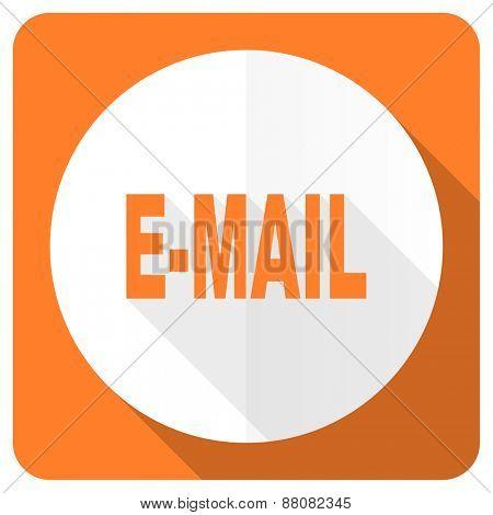 email orange flat icon