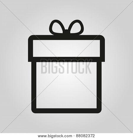 Gift Box Icon. Present Symbol. Flat
