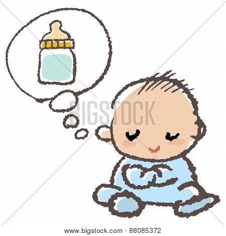 Baby Thinking Milk