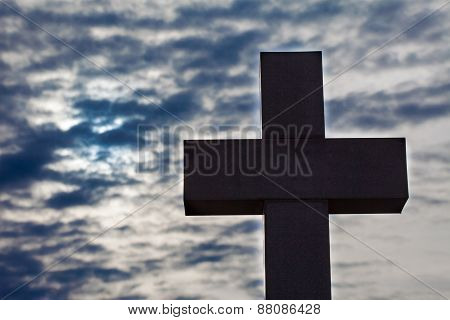 Silhouette of cross