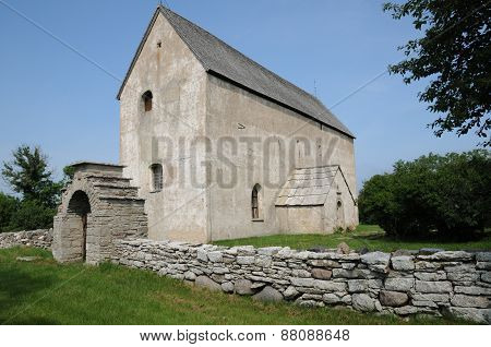 Sweden, The Little Old Church Of Kalla