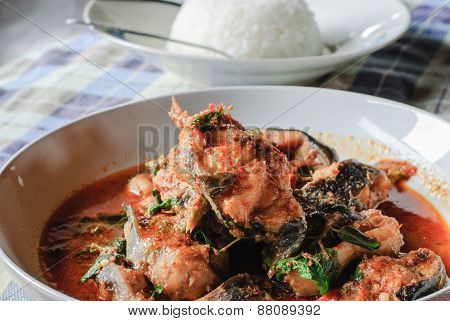 Santed Eat Fish With Chilli Paste