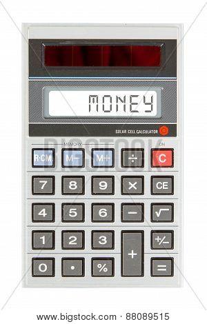 Old Calculator - Money