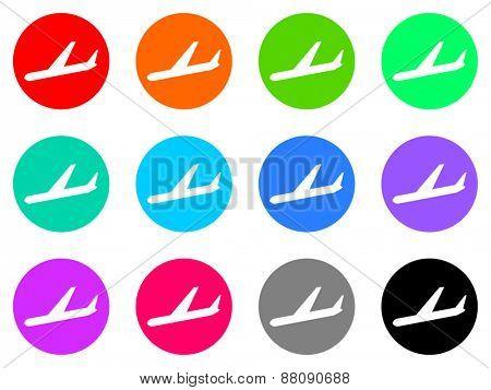 plane vector icon set