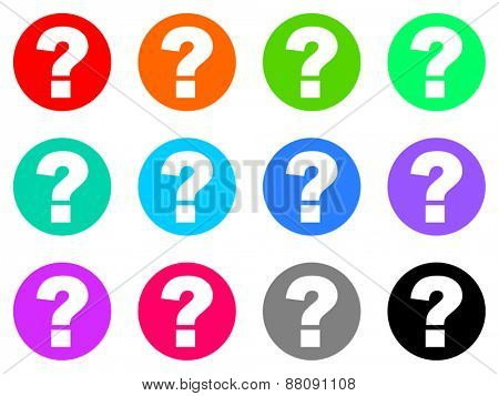 question mark vector icons set