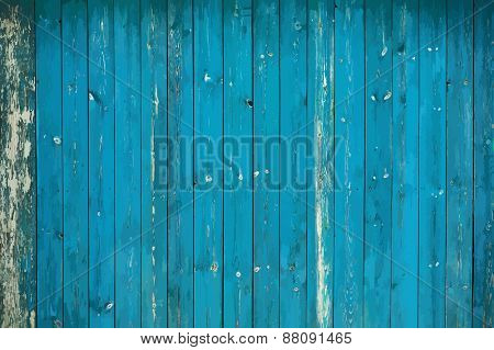 old dirty blue wooden wall, vector