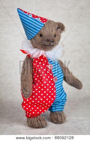 Portrait Of Old Fashioned Teddy Bear