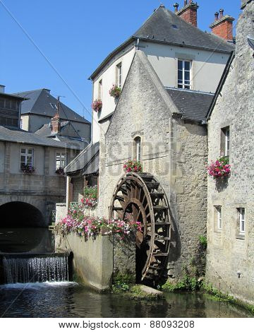 Picturesque Waterwheel, Bayeux, France