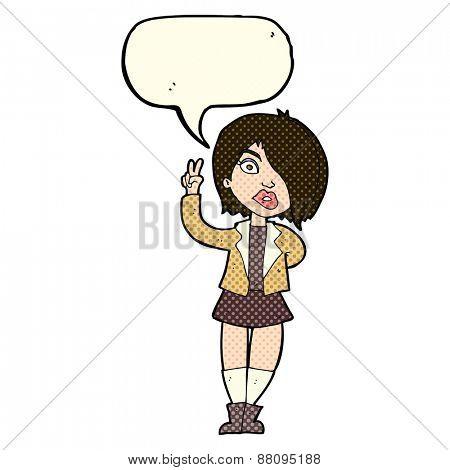 cartoon girl with attitude