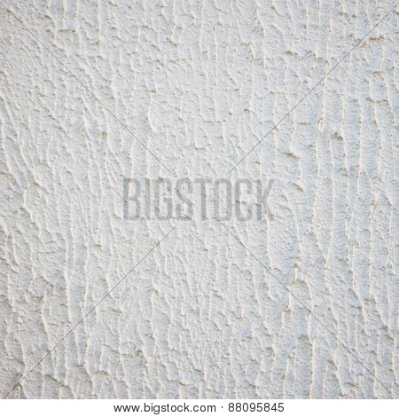 Close Up Textured White Wall With Copy Space