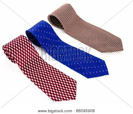 Necktie On A White Background