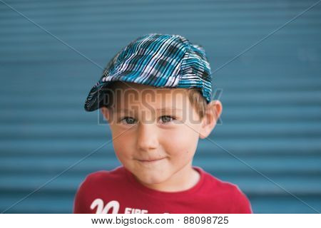 Three Years Old Boy With Hat
