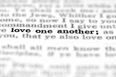 picture of scriptures  - Detail closeup of New Testament Scripture quote Love One Another - JPG
