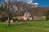 foto of serbia  - Panorama of medieval Poganovo Monastery of St - JPG