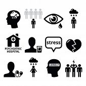 picture of mental_health  - Vector icons set  - JPG