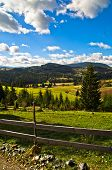 pic of serbia  - Mountain road and landscape at autumn sunny day - JPG