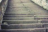 stock photo of upstairs  - Stairs upstairs - JPG