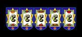 stock photo of slot-machine  - Euro symbol slot machine - JPG