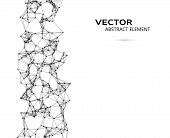 picture of cybernetics  - Vector element of abstract cybernetic particles on white background - JPG