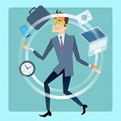 image of juggler  - Businessman juggler planning time work - JPG