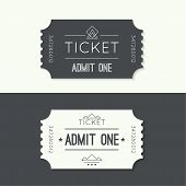 foto of zoo  - Entry ticket to old vintage style - JPG