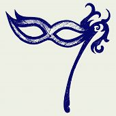 image of masquerade  - Mask for masquerade costumes isolated on background - JPG