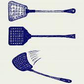 stock photo of gnat  - Fly swatter - JPG