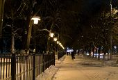 stock photo of prospectus  - Avenues of the big city at winter night - JPG