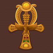 picture of ankh  - Golden Cross ankh - JPG