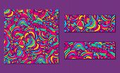image of vivid  - Set of bright abstract patterns and banners - JPG