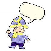 picture of fairy-mushroom  - cartoon mushroom man with speech bubble - JPG