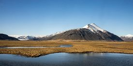 stock photo of iceland farm  - scenic landscape of southern Iceland - JPG