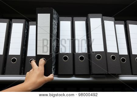 Row of Ring binders