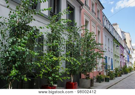 Rue Cremieux in Paris, France