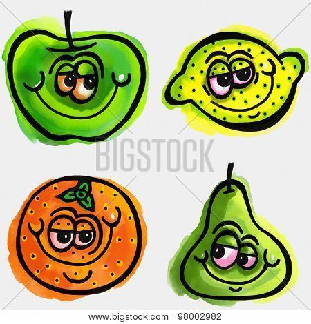 Cartoon Fruit