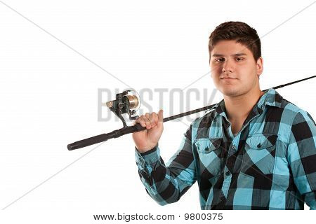 Teenager With A Fishing Pole